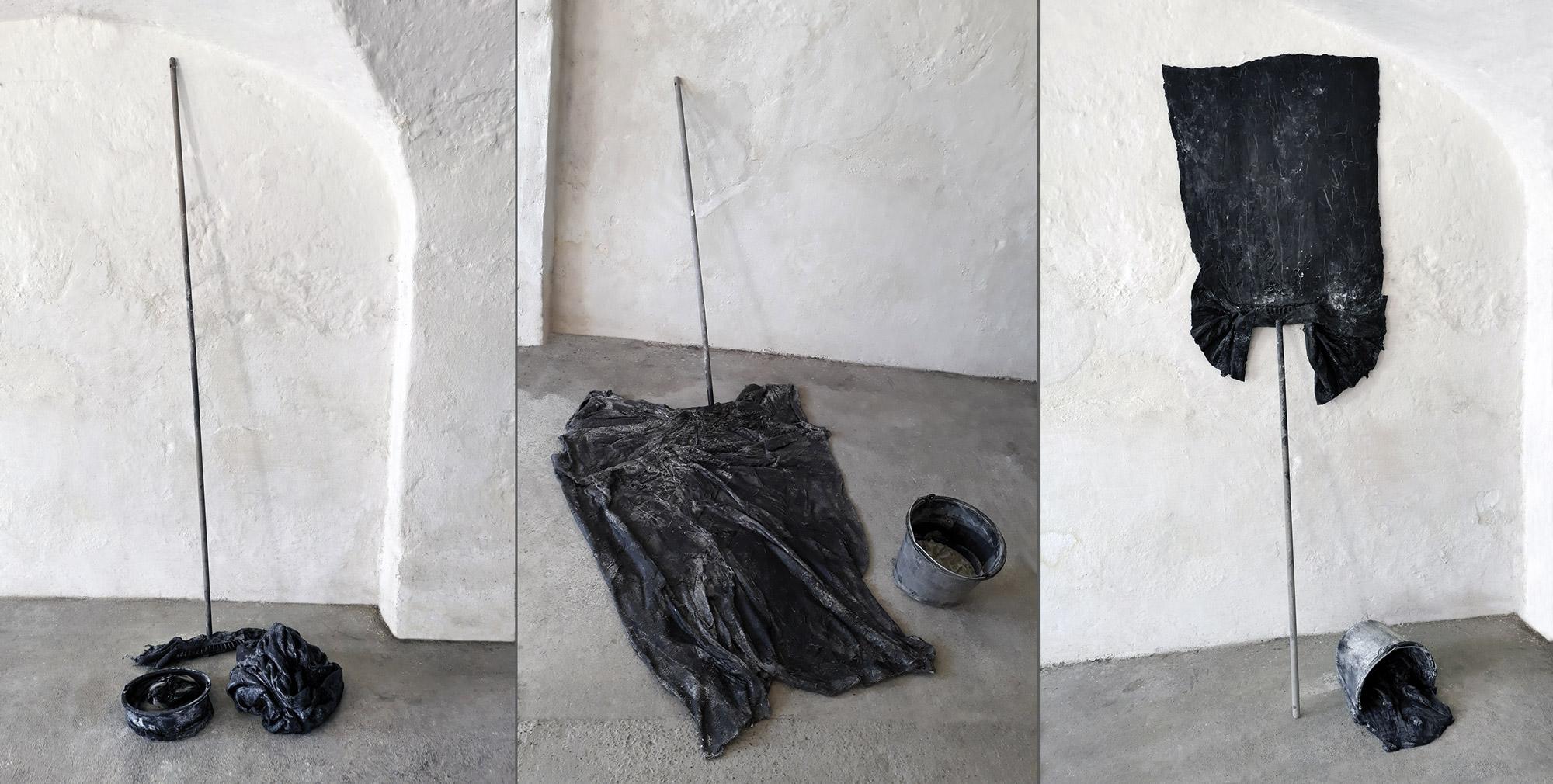 umputzen 01 bis 03 | Atelieransicht | 2020 | Kulissenwechsel | Städtische Galerie Traunstein | © Uli Reiter